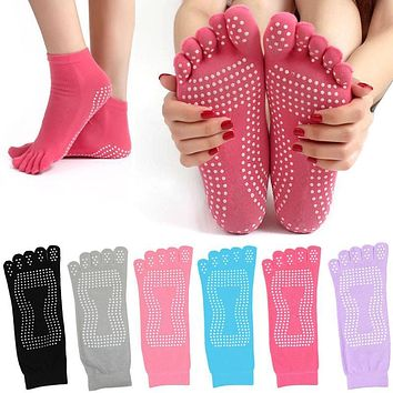 New Winter Women Toe Socks Cotton Non Slip Pilates Sock calcetines Warm Cute Socks With Five Fingers Sokken Z1