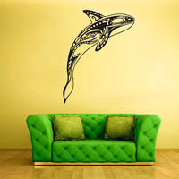 rvz1709 Wall Decal Sticker Sea Ocean Orca Dolphin Fish Whale Animals Decal