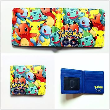 Pocket Monster  Wallets For Boy Girl Student Kawaii Pikachu Poke Ball Purse Dollar Price Leather Card Holder Bags W981QKawaii Pokemon go  AT_89_9
