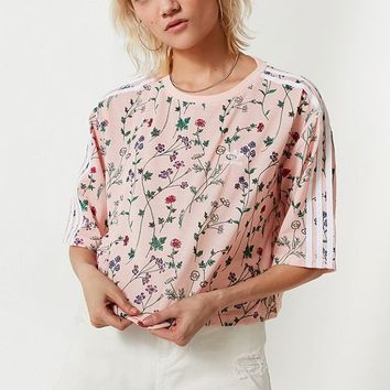 adidas Originals Floral Cropped Tee | Urban Outfitters