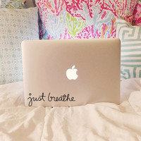 Just Breathe Laptop Decal