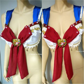 Sailor Moon - Sailormoon Cosplay Dance Costume Rave Bra Halloween