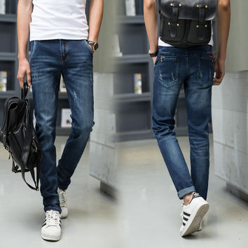 Korean Slim Men Jeans [6528731587]