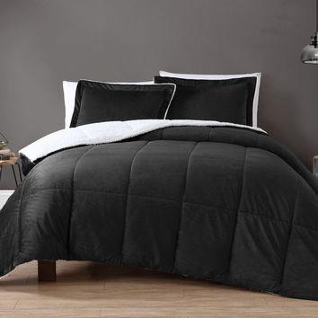VCNY Home Micro Mink Sherpa Reversible Comforter Set