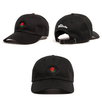 Black The Hundreds Rose Strap embroidered cap Adjustable Golf Snapback Baseball Hat