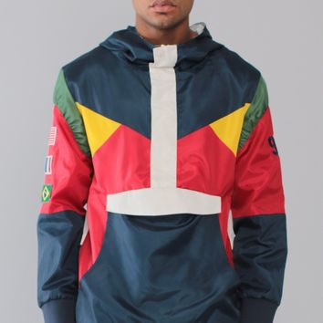 Entree LS Olympic Windbreaker Navy Jacket