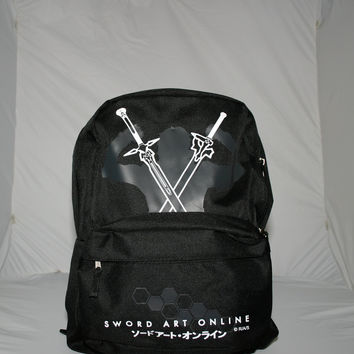 Sword Art Online - Kirito with Swords Black Backpack