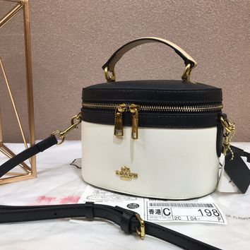 hcxx 1196 Coach Selena Simple cylindrical cosmetic bag with single shoulder and oblique shoulder