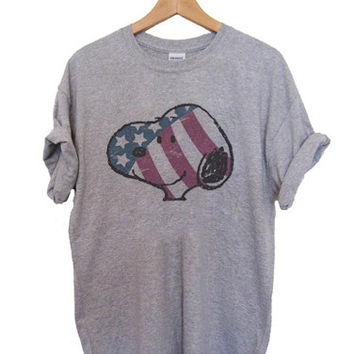 The Peanuts Movie Snoopy - Vintage Flag T-shirt Men, Women, Youth and Toddler