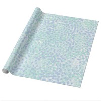 Cyan And Purple Speckled Wrapping Paper