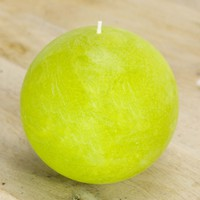 """Chartreuse Ball Candle 4"""" - Pantone Greenery Inspired"""