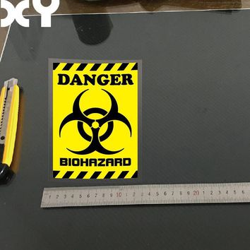 XY Danger Sign Biohazard Car Stickers and Decals Vinyl Reflective Type Funny Car Stickers Resident Evil 15cmx11cm