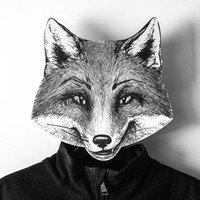 Unique hook - hanger - mask - Fox - a decorative article for your creative home or office
