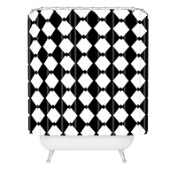 Lisa Argyropoulos Harlequin Diamonds Shower Curtain