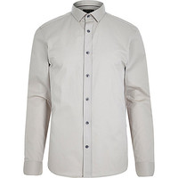 River Island MensEcru long sleeve shirt