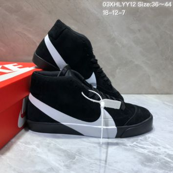 KUYOU N871 Nike Wmns Blazer Mid SD Logo Casual Skate Shoes Black