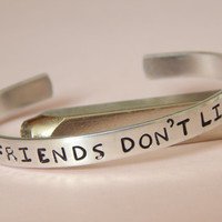 Friends Don't Lie, Stranger Things Inpired Bracelet - Inspirational Gift, Handmade, Gift Under 20