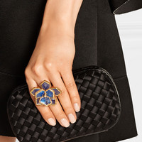 Oscar de la Renta | Gold-plated resin ring | NET-A-PORTER.COM