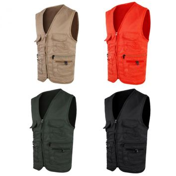 Fishing Vest Men's Spring Summer Outdoor Vest Hunting Jacket Comfort Sportswear Fishing Photography Fishing Vest Pockets Jacket