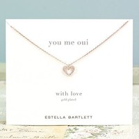 You Me Oui Rose Gold Heart Necklace