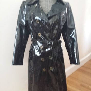 Vintage Calvin Klein Pleather Trench Coat