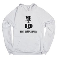 Me Bed Best Couple Ever-Unisex White Hoodie