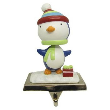 Bobblehead Penguin Stocking Holder