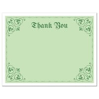 St Patrick's day thank you notecard with elegant corner decorations