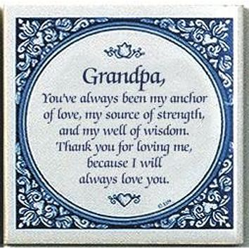 Inspirational Wall Plaque: Grandpa Always Love..