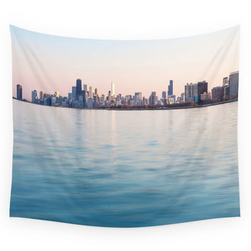 Society6 Chicago Sunset Wall Tapestry