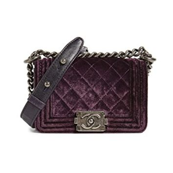 Chanel Velvet Boy Mini Bag (Previously Owned)