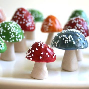 Chocolate Filled Toadstools CUSTOM COLOR by andiespecialtysweets