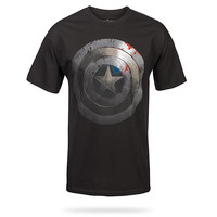 The Winter Soldier Shield T-Shirt - Black,