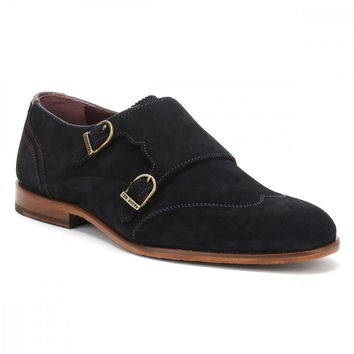 Ted Baker Mens Dark Blue Suede Rovere Shoes