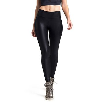 BLACK LIQUID SCRUNCH LEGGINGS