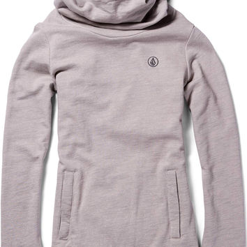 Volcom Tower Womens Pullover Fleece Hoodie - Sparrow