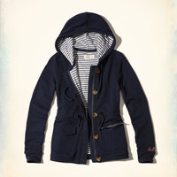 Girls Button-Front Terry Hoodie | Girls Tops | HollisterCo.com