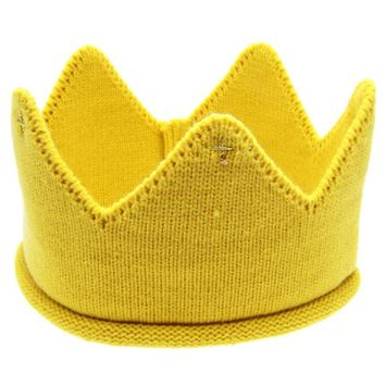 Crown Knitted Baby Hat