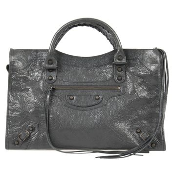 Balenciaga Classic City Bag | Fossil Gray with Rustic Brass Hardware | Medium