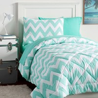ZIG ZAG STRIPE DELUXE VALUE COMFORTER SET