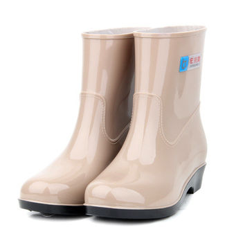 Free shipping girl water shoes rain boots female Korean spring and autumn  rubber boots shoes ankle rainboots