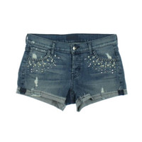Koral Womens Embellished Destroyed Cutoff Shorts