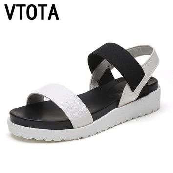 Summer shoes woman Hot Selling sandals women 2016 peep-toe flat Shoes Roman sandals Wo