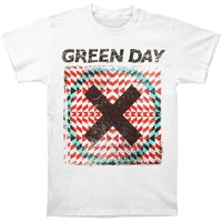 Green Day Men's  Xllusion T-shirt White Rockabilia