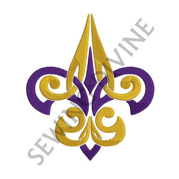 TRIBAL FLEUR de lis Machine Embroidery Design 4x4 5x7 6x10 Instant Download