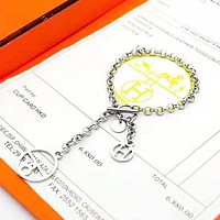 Hermes Women Fashion New Personality Bracelet Accessories Silver