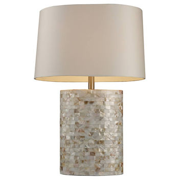 """0-008009>27""""h Sunny Isles 1-Light Table Lamp Mother Of Pearl"""