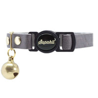 """Cat Collar, Leather with Safety Breakaway Buckle - """"Pebble"""" // PRIMARY collection"""