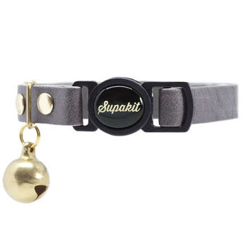"Cat Collar, Leather with Safety Breakaway Buckle - ""Pebble"" // PRIMARY collection"