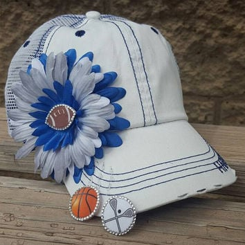 Baseball hats for moms with kids in sport